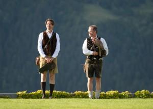Die beiden Falkner Michael Holzfeind und Franz Schüttelkopf sind Freunde seit der Kinderzeit. © studiohorst