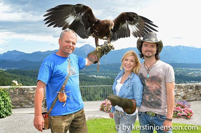 Moderatorin und Sängerin Stefanie Hertel und ihrem Ehemann Lanny Isis hat es auf der Adler-Arena auf Burg Landskron sichtlich gefallen! © Kerstin Joensson