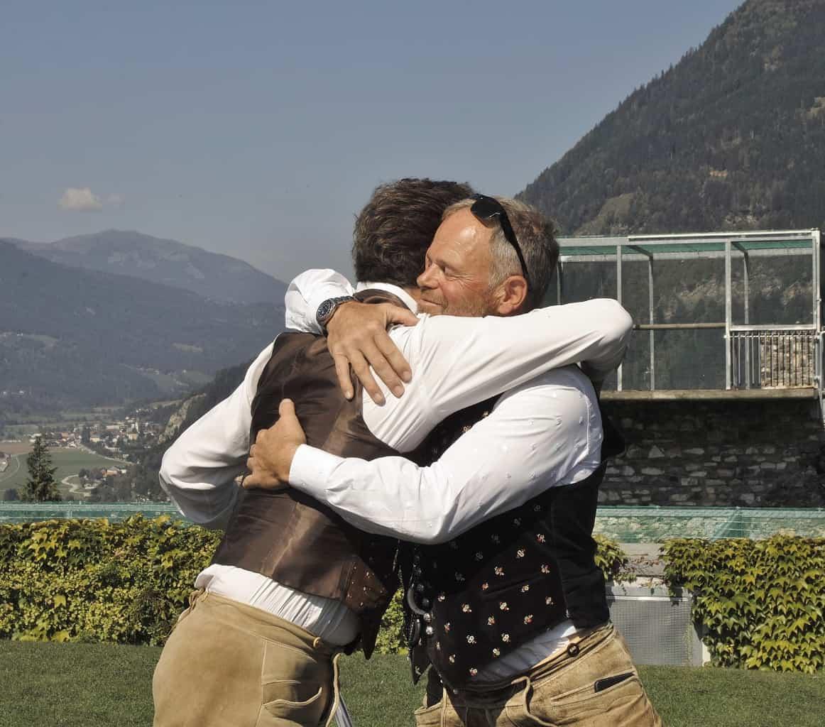 Beste Freunde und Geschäftspartner seit 35 Jahren: Michael Holzfeind und Franz Schüttelkopf. © Klaus Freithofer