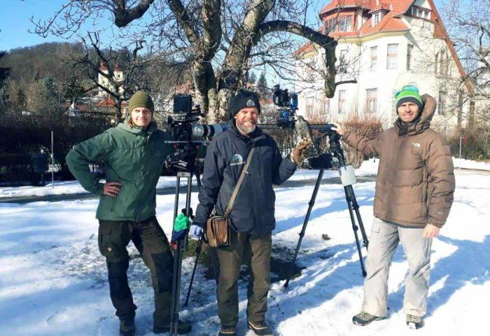 TV Dokumentation mit Sperber von Adlerwarte Landskron Kärnten
